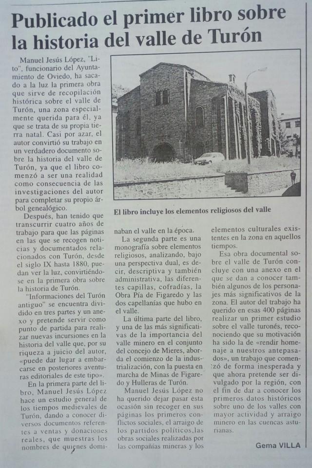 PUBLICADO 1º lO SOBRE tURON